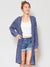 Acid Washed Cotton Knit Long Cardigan