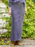 Acid Washed Cotton Knit Long Skirt