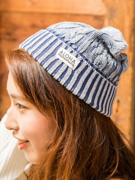Knitted Cotton Beanie-Ametsuchi