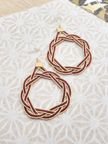 AIOI MIZUHIKI Knot Earrings