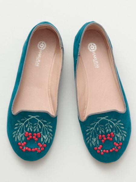 Nandin Embroidered Pumps-Shoes-Ametsuchi
