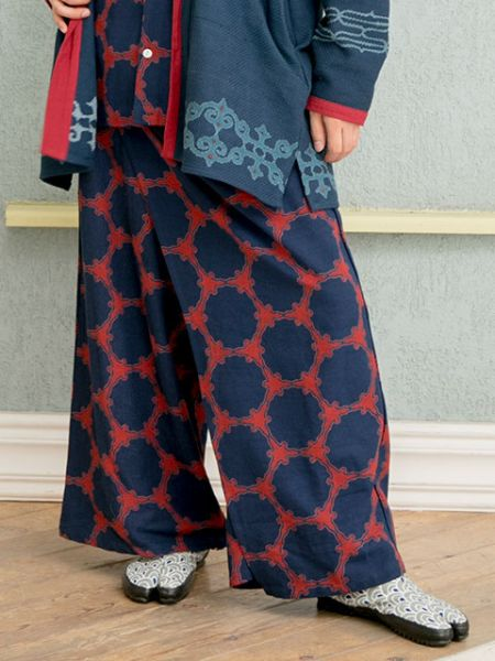 Autumn Breeze Band Wrap Pants-Pants & Shorts-Ametsuchi