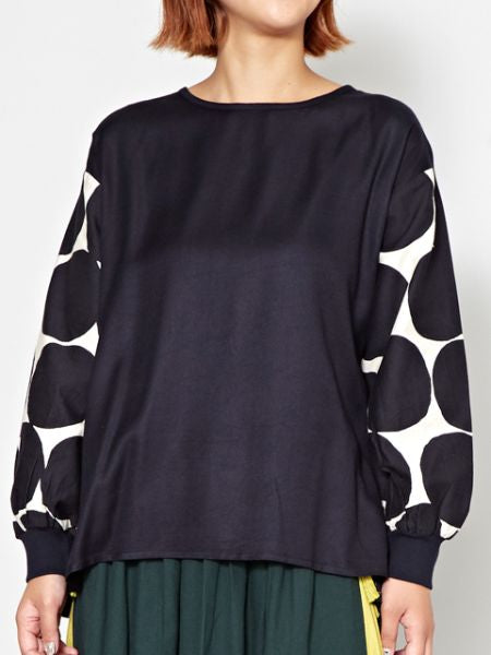 Dot Drop Sleeve Top