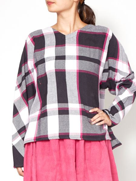 BENKEI Plaid Top-Tops-Ametsuchi
