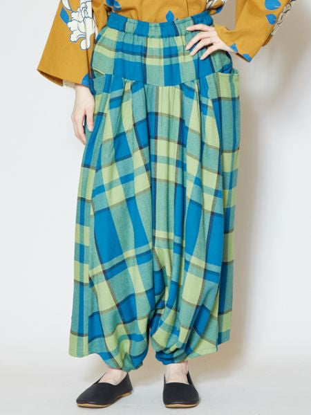 BENKEI Plaid Wide Leg Pants-Pants & Shorts-Ametsuchi