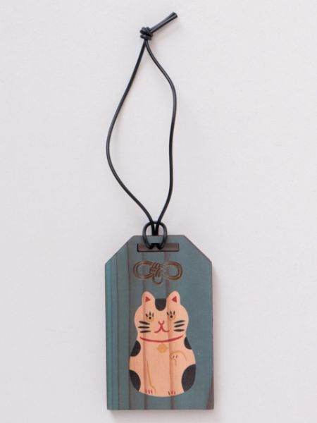 Japanese Amulet Shape Wooden Luggage Tag -Others-Ametsuchi