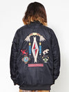 Navajo Pattern Embroidered MA-1 Style Jacket-Ametsuchi
