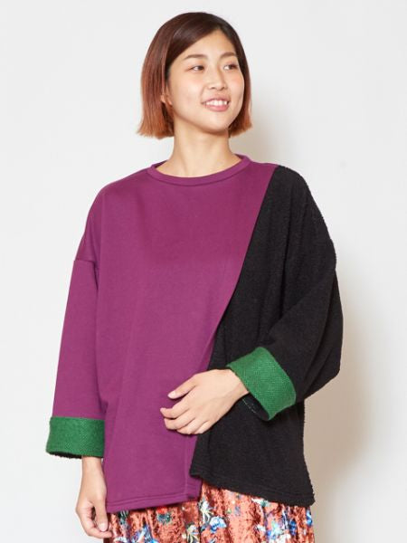 Patchwork Colorblocked Top-Tops-Ametsuchi