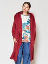 Fluffy Silhouette Long Coat-Ametsuchi