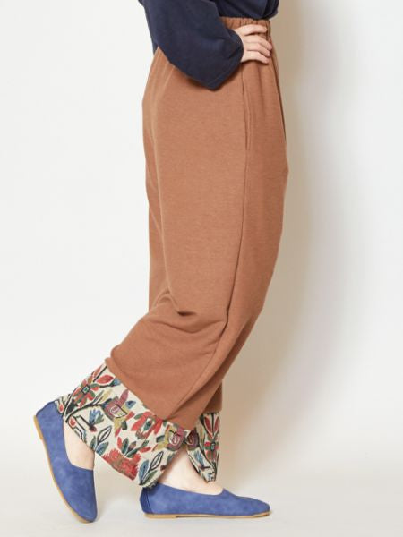 Silk Road Hem Slit Wide Leg Pants
