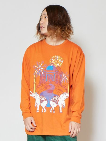 Nomad Printed Long Sleeve T Shirt-Ametsuchi