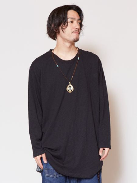 Tribal Triangle Back Print Long Sleeve Mens T Shirt