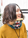 Patchwork Neck Warmer -Scarves-Ametsuchi