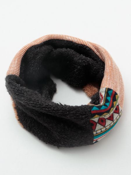 Patchwork Neck Warmer-Schals-Ametsuchi