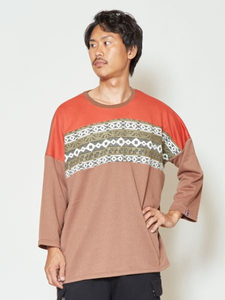 Sweat Patchwork Oversized Pullover