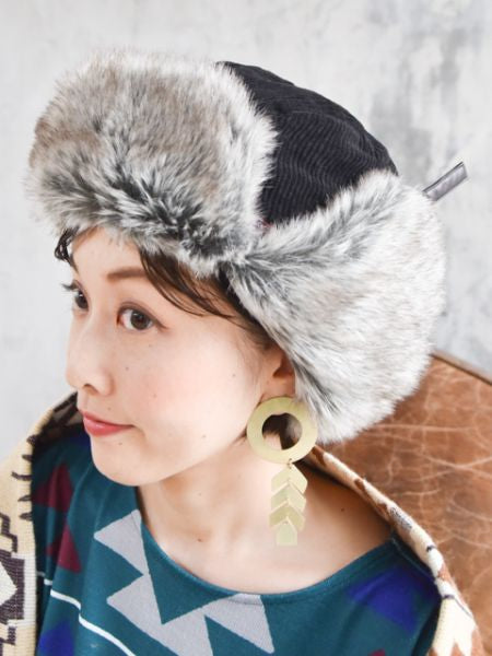 Faux Fur Flight Cap-Ametsuchi