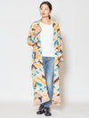 Navajo Pattern Knit Long Cardigan-Ametsuchi