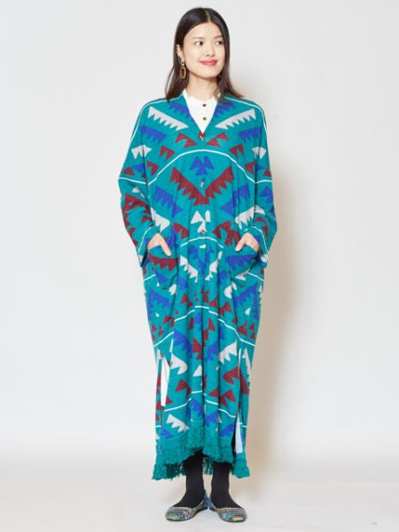 Navajo Pattern Knit Long Cardigan