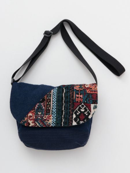 Kilim Pattern Patchwork Mini Shoulder Bag-Ametsuchi