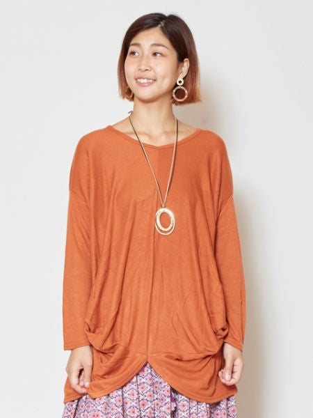 Plain Drape Knitted Top