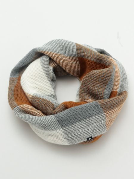 Plaid Volume Snood-Schals-Ametsuchi