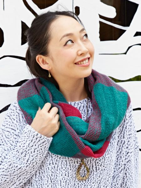 Plaid Volume Snood-Scarves-Ametsuchi