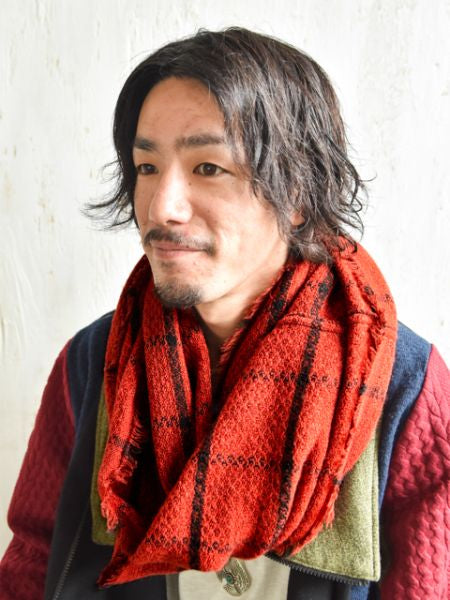 Simple Plaid Snood-Schals-Ametsuchi