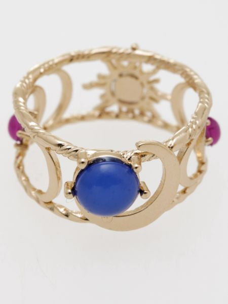 Sun and Crescent Moon Ring-Ametsuchi