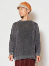 Acid Washed Knitted Cotton Top-Ametsuchi