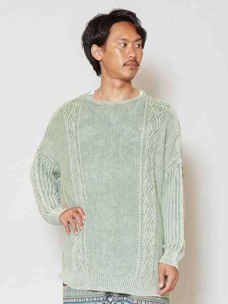 Acid Washed Knitted Cotton Top