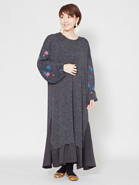 Starry Night Knit Layered Dress