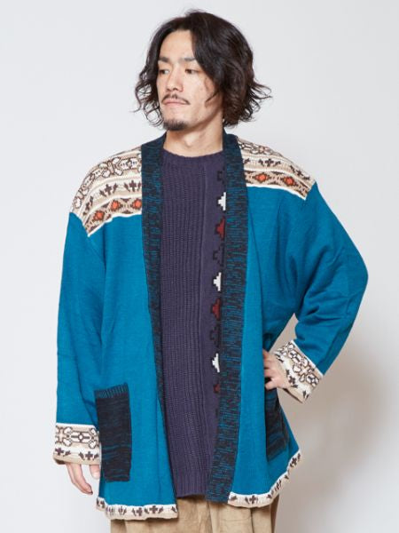 Retro Folklore Knit Cardigan-Cardigans & Outerwear-Ametsuchi