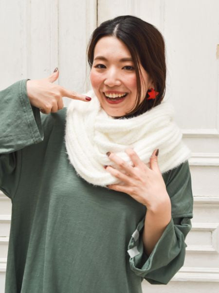 Unisex Plain Knitted Snood-Ametsuchi