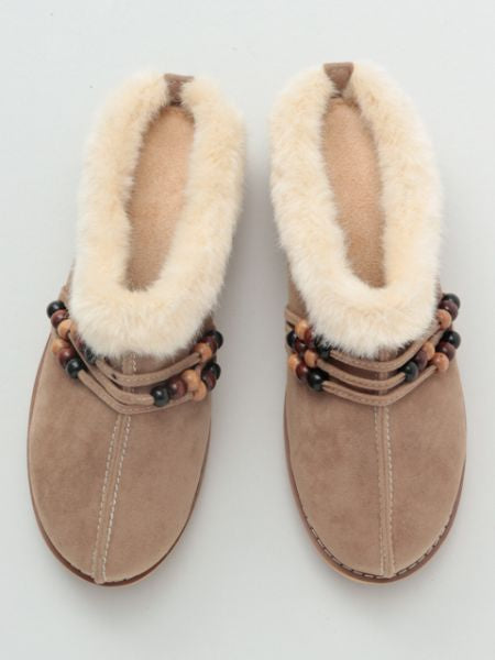 Faux Fur Slip on Shoes-Shoes-Ametsuchi