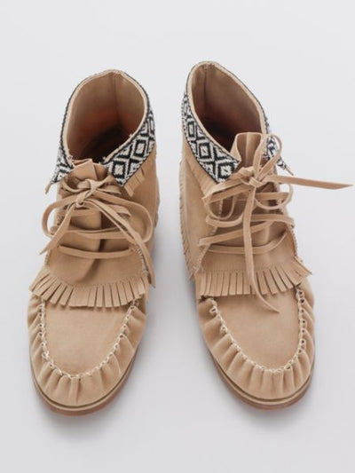Moccasin Short Boots-Ametsuchi