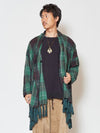 Plaid Men's Cardigan & Shawl-Ametsuchi