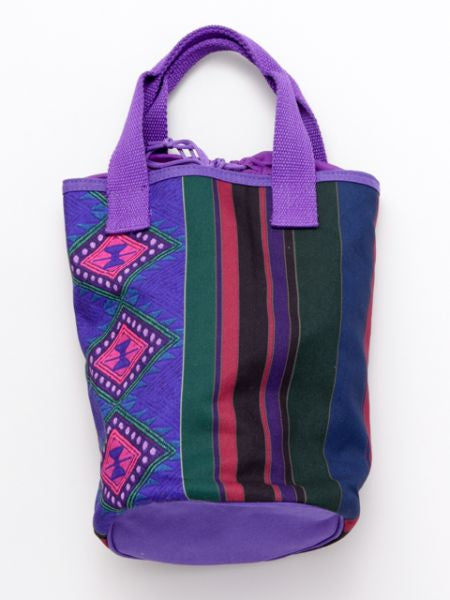Folklore Printed KINCHAKU Bucket Bag-Ametsuchi