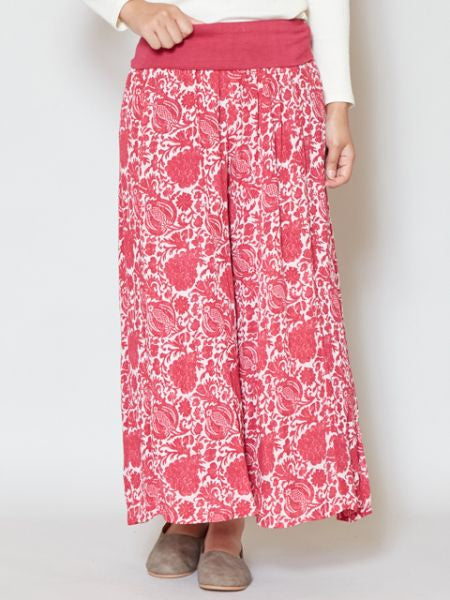 Bohemian Pattern Print Wide Leg Pants