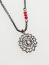 Metal Mandala Necklace-Necklaces-Ametsuchi