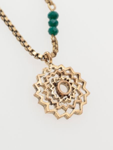 Metal Mandala Necklace-Ametsuchi