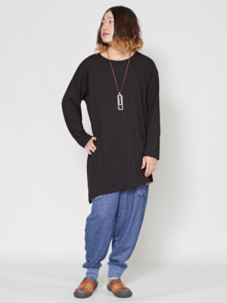 Slub Jersey Cotton Men's Oversized Top