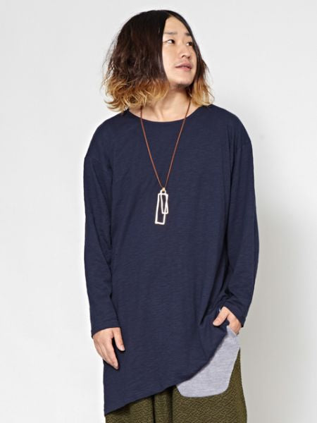 Slub Jersey Cotton Men's Oversized Top-Ametsuchi