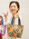 African Pagne Pattern Mini Tote Bag-Ametsuchi
