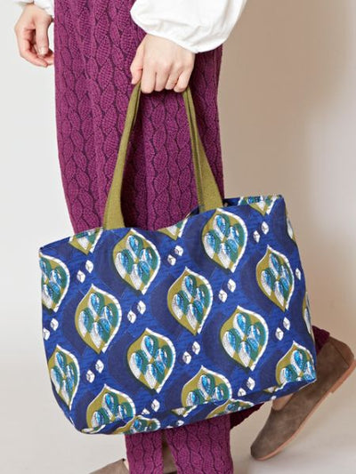 African Pagne Pattern Tote Bag-Bags & Purses-Ametsuchi