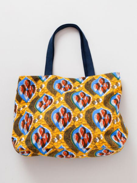 African Pagne Pattern Tote Bag-Ametsuchi