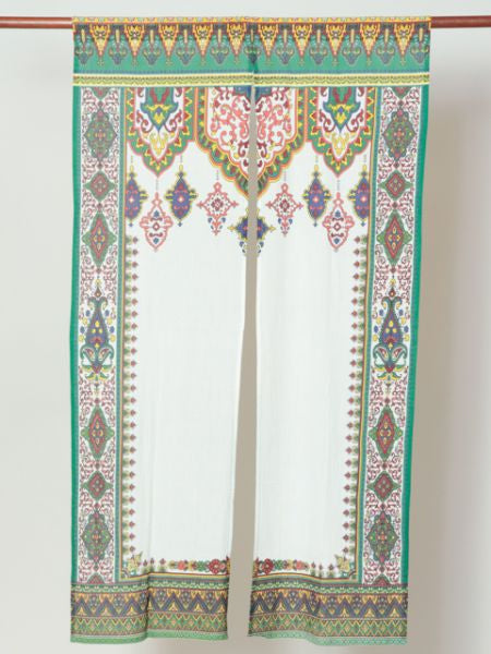 Arabesque NOREN Door Slit Curtain-Home Decor-Ametsuchi