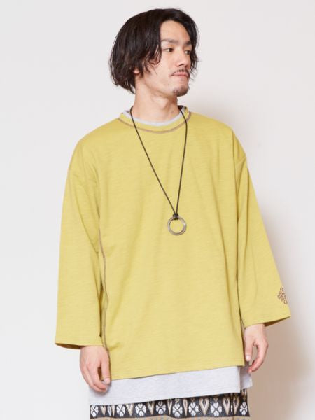 Colorblock Stripe Long Sleeve Top-Ametsuchi