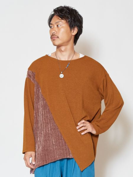 Mole Knit Asymmetrical Top-Tops-Ametsuchi