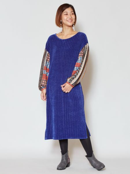 Mole Knit Volume Sleeve Dress