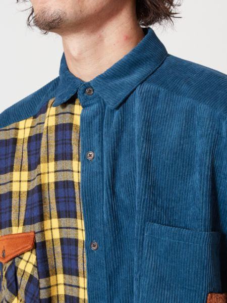 Plaid Patchworked Men's Oversized Shirt